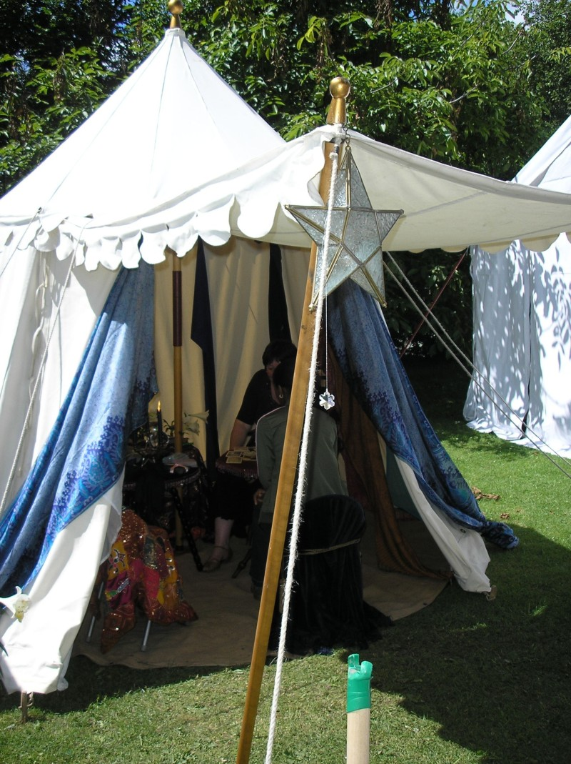medieval tent at the River festival 2008